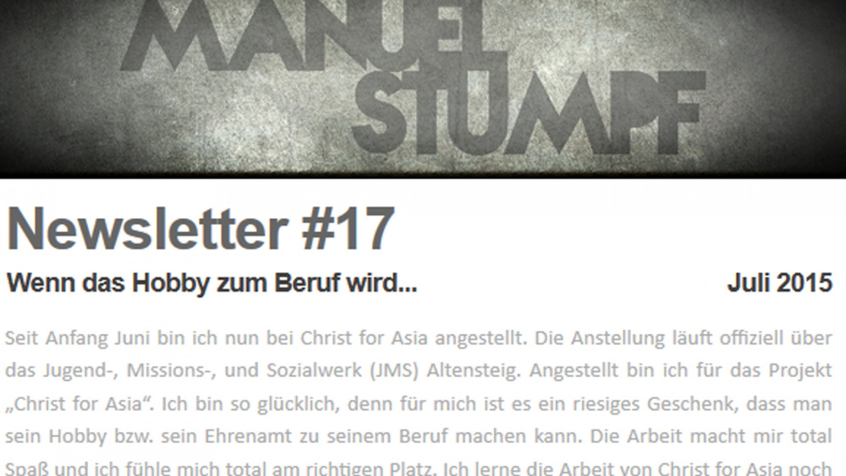 ManU's Newsletter #17
